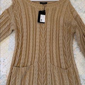 Tan - never used sweater dress